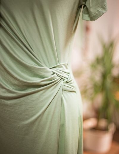 Jerseykleid, Knotentechnik, Sommerkleid (1)