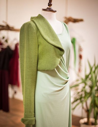 Jerseykleid, Knotentechnik, Sommerkleid (3)