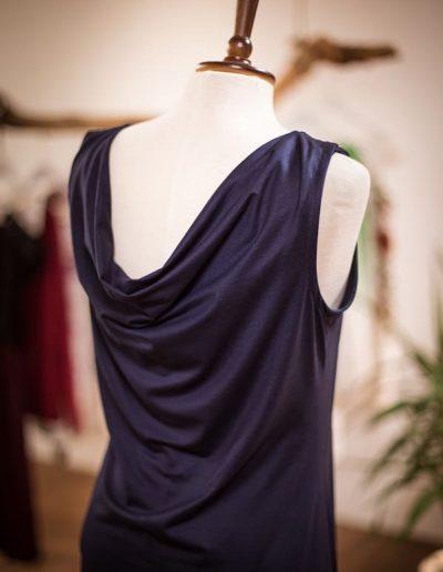 Jerseykleid, Spitze, Wasserfall, Alltagskleid, maßgeschneidert (3)