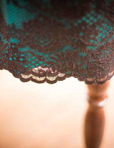 Kleid, Spitze, Jersey, Alltag, Smaragd (1)